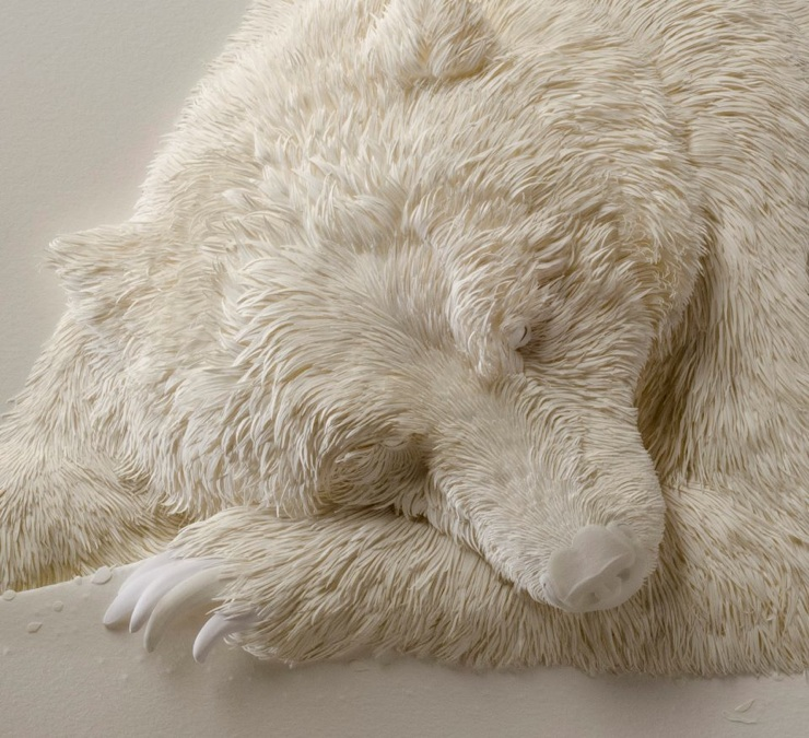 Super Realistic Paper Sculptures Of Animals By Calvin Nicholls 13