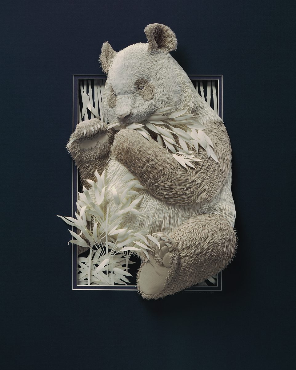 Super Realistic Paper Sculptures Of Animals By Calvin Nicholls 6
