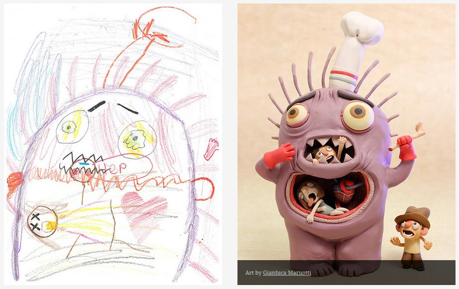 Kids-Monster-Doodles-Turned-Into-Stunning-Illustrations-01