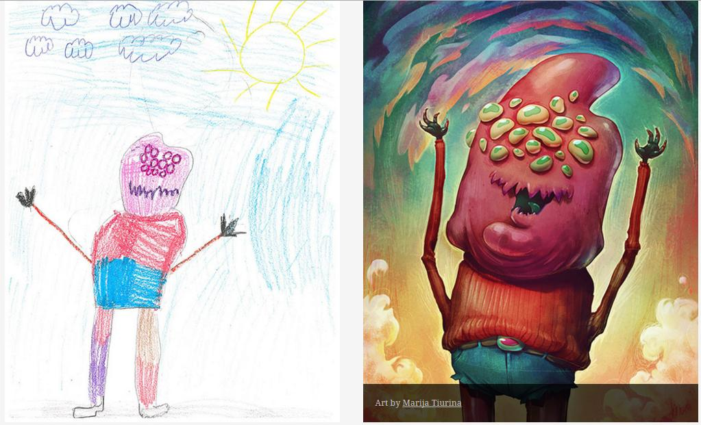 Kids-Monster-Doodles-Turned-Into-Stunning-Illustrations-04