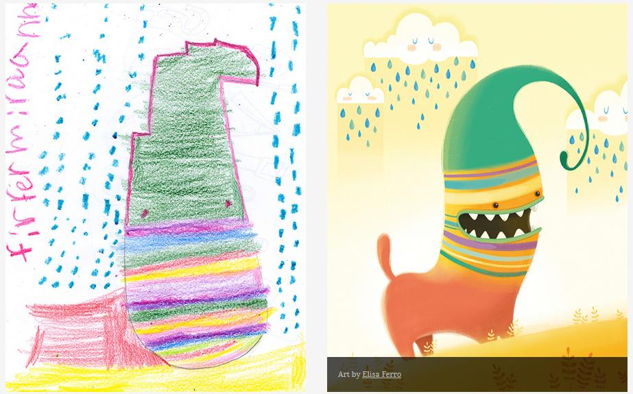 Kids-Monster-Doodles-Turned-Into-Stunning-Illustrations-07
