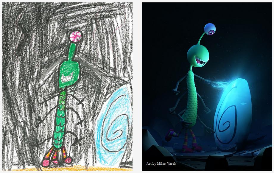 Kids-Monster-Doodles-Turned-Into-Stunning-Illustrations-10