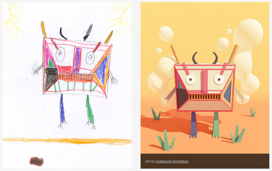 Kids-Monster-Doodles-Turned-Into-Stunning-Illustrations-11