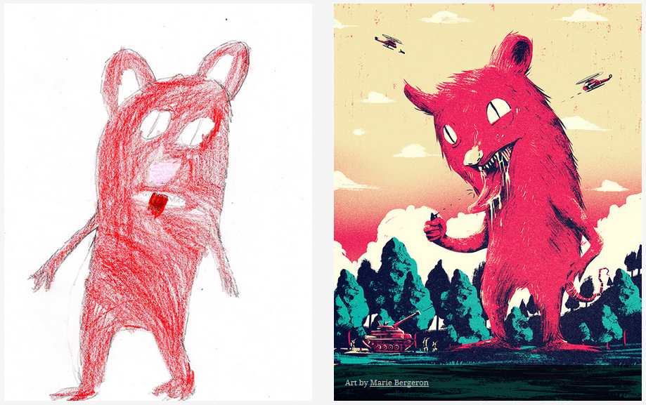Kids-Monster-Doodles-Turned-Into-Stunning-Illustrations-12