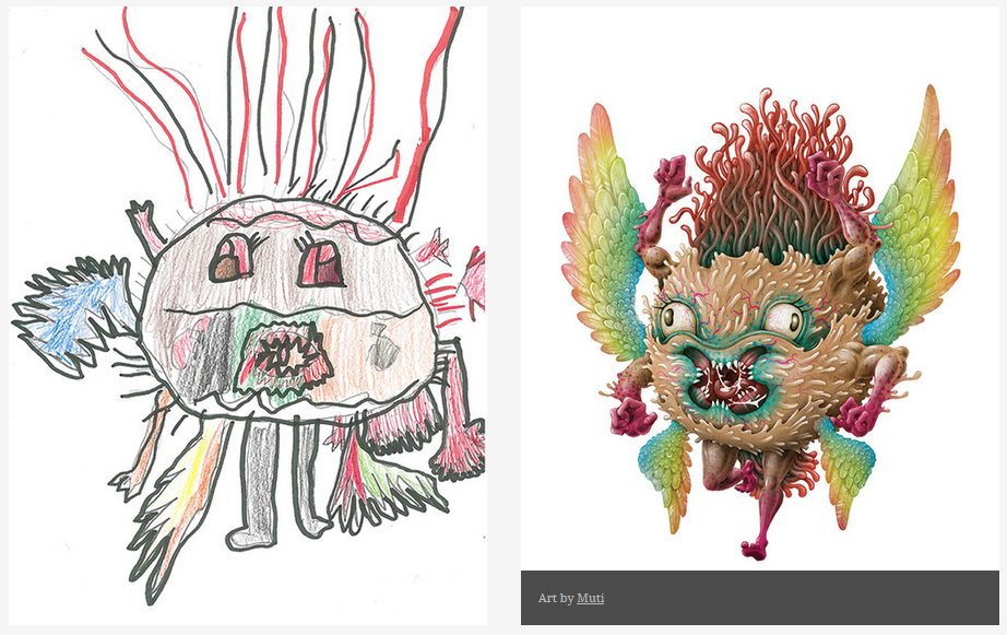 Kids-Monster-Doodles-Turned-Into-Stunning-Illustrations-13