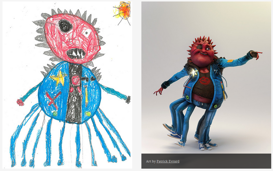 Kids-Monster-Doodles-Turned-Into-Stunning-Illustrations-14