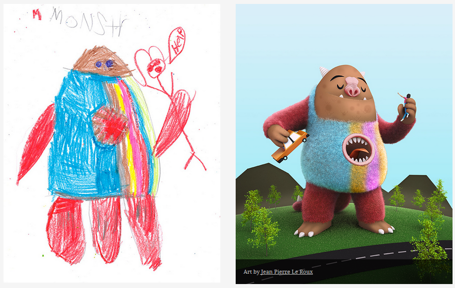 Kids-Monster-Doodles-Turned-Into-Stunning-Illustrations-18