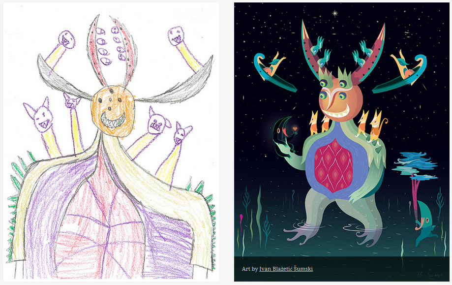 Kids-Monster-Doodles-Turned-Into-Stunning-Illustrations-22
