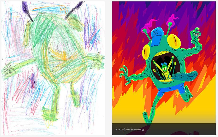 Kids-Monster-Doodles-Turned-Into-Stunning-Illustrations-23