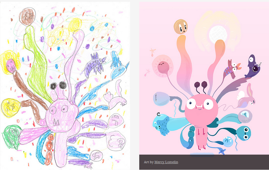 Kids-Monster-Doodles-Turned-Into-Stunning-Illustrations-25