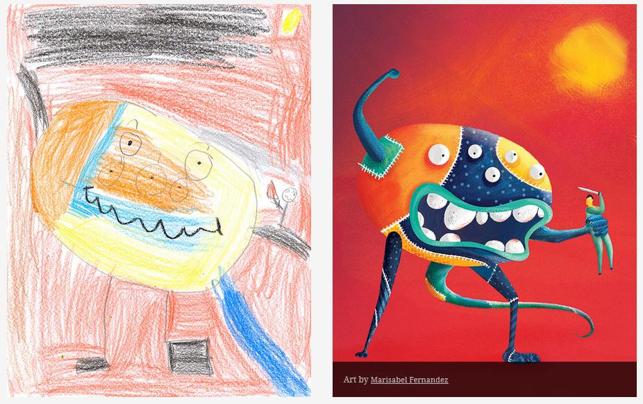 Kids-Monster-Doodles-Turned-Into-Stunning-Illustrations-26