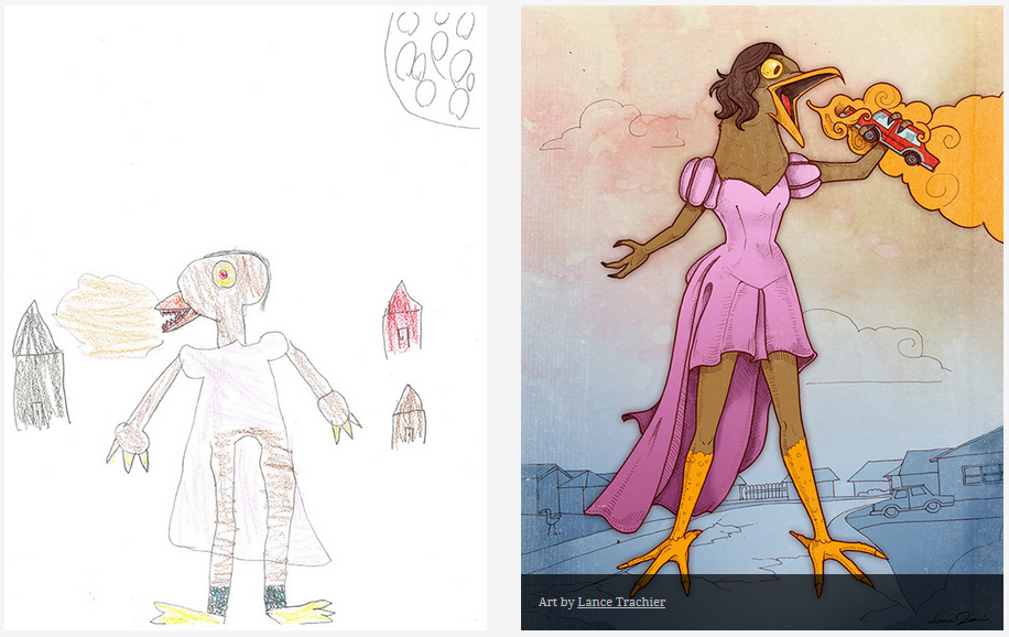 Kids-Monster-Doodles-Turned-Into-Stunning-Illustrations-27