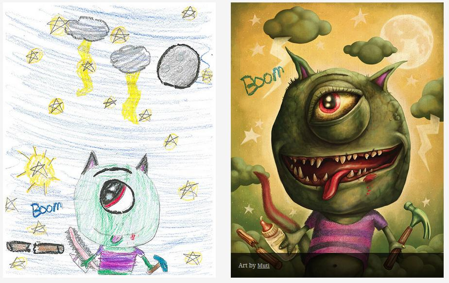 Kids-Monster-Doodles-Turned-Into-Stunning-Illustrations-28