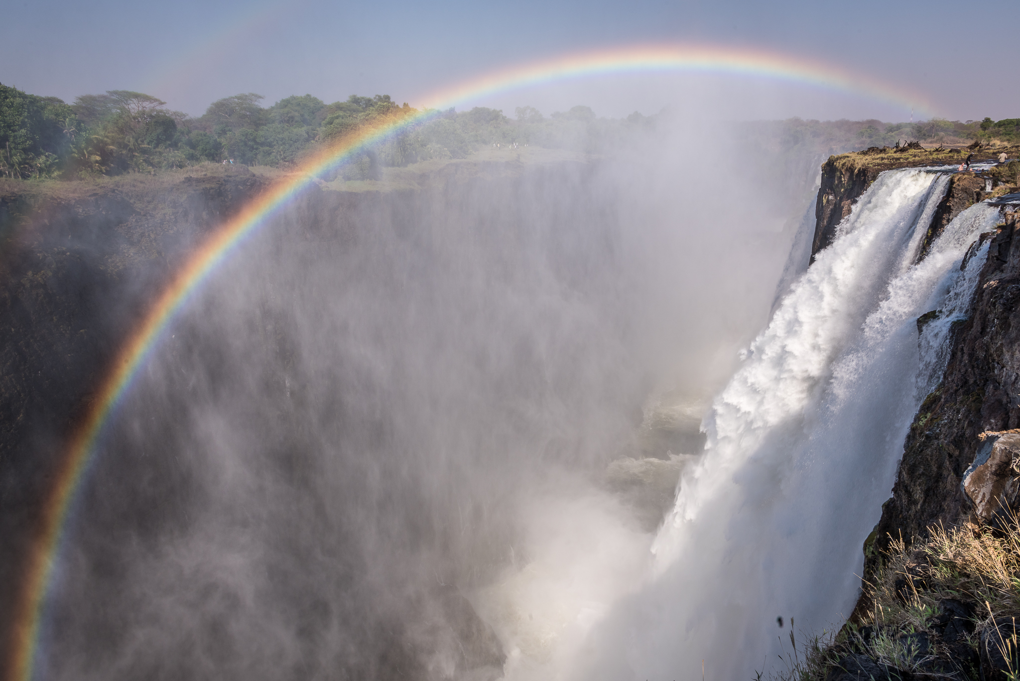 Vic Falls and Devil's Pool landscape