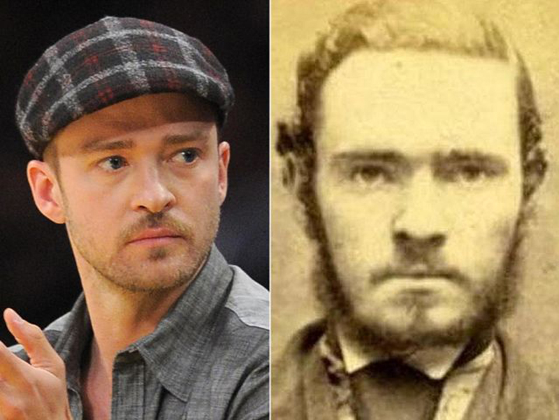 Justin Timberlake and an old photo