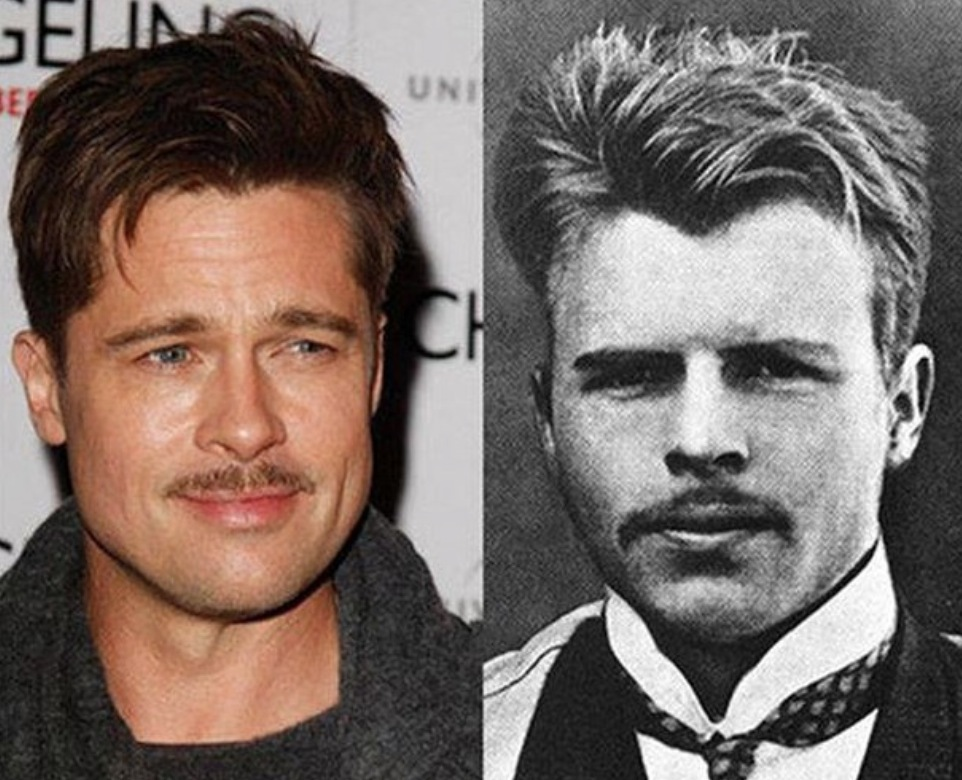 Brad Pitt and the Swiss Freudian psychiatrist Hermann Rorschach