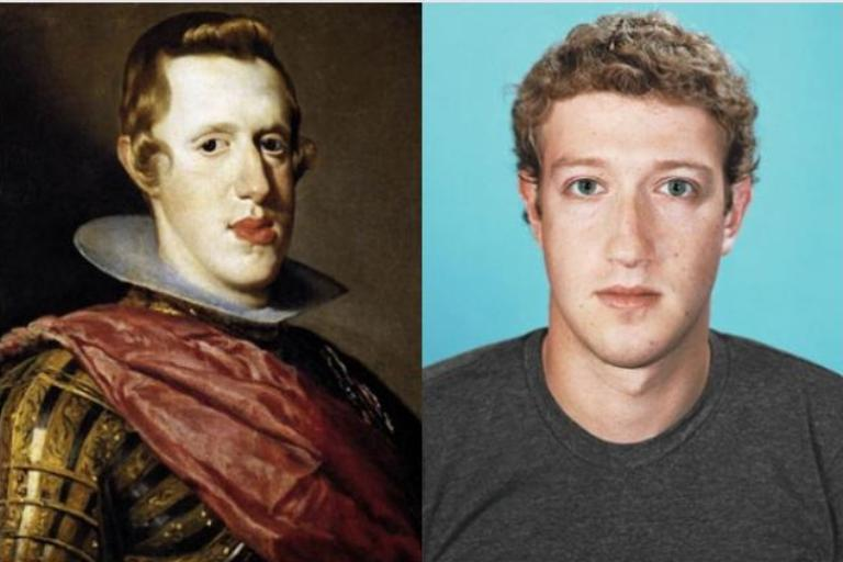 Mark Zuckerberg and King Philip IV of Spain