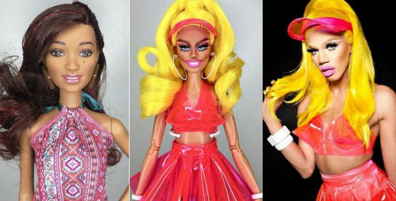 Визажист Марк Джонатан превращает кукол Барби в трансгендеров картинки
