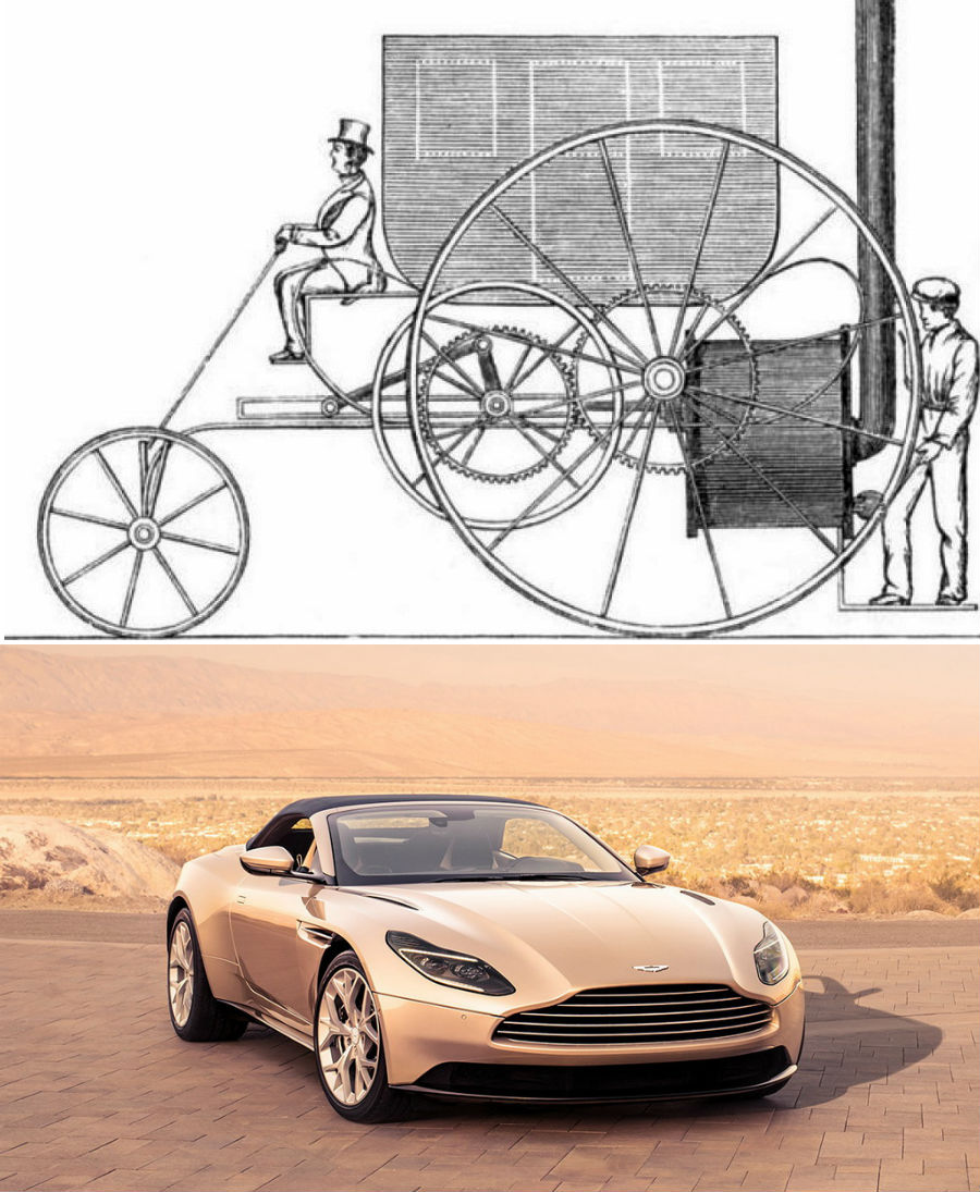 The evolution of technology: what the first car, a vacuum cleaner, a refrigerator looked like |  Brain berries