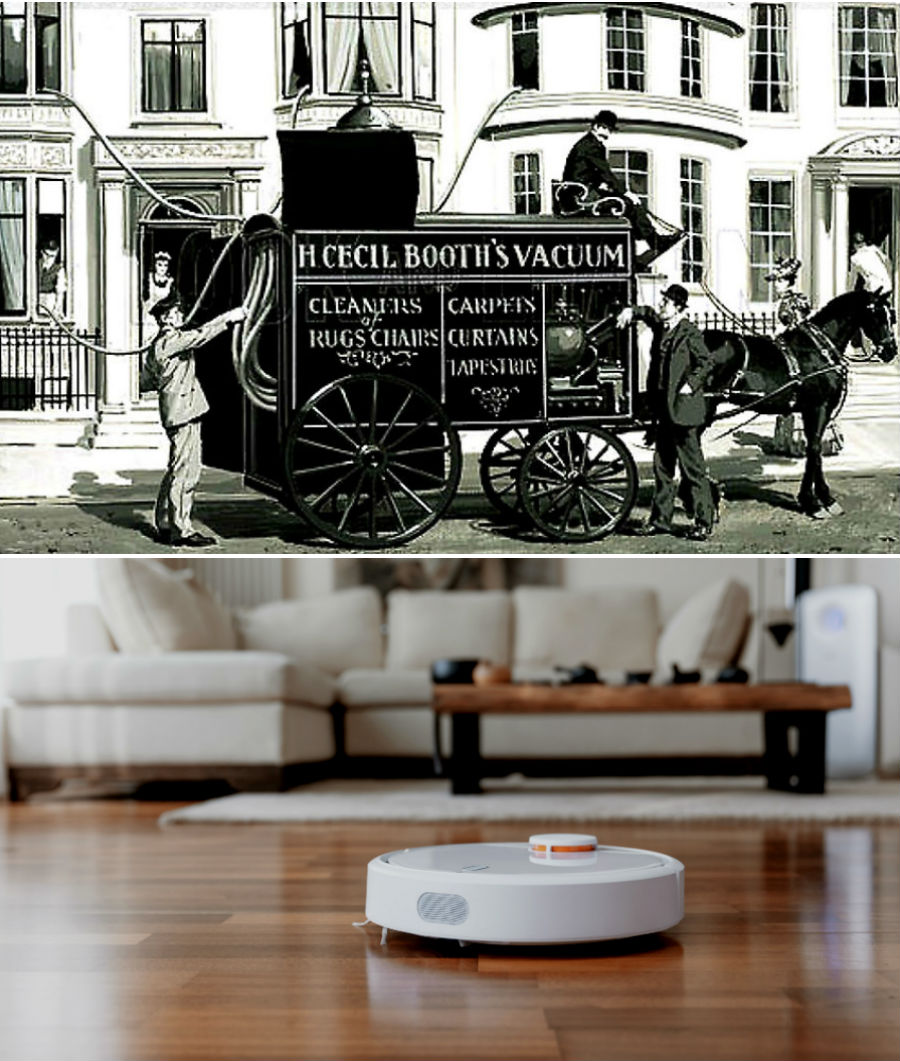 The evolution of technology: what the first car looked like, a vacuum cleaner, a refrigerator # 2 |  Brain berries