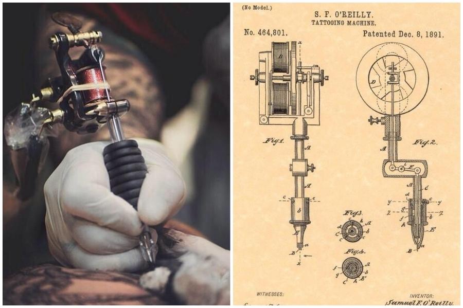 Thomas Edison đã truyền cảm hứng tạo ra súng xăm | 9 sự thật đáng kinh ngạc về xăm mình mà bạn có thể không biết | Brain Berries