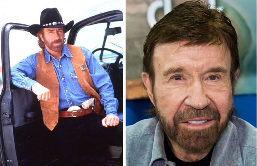 Chuck Norris Then Now | Brain Berries