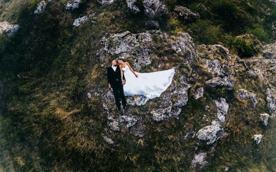 Drone wedding photography | Brain Berries