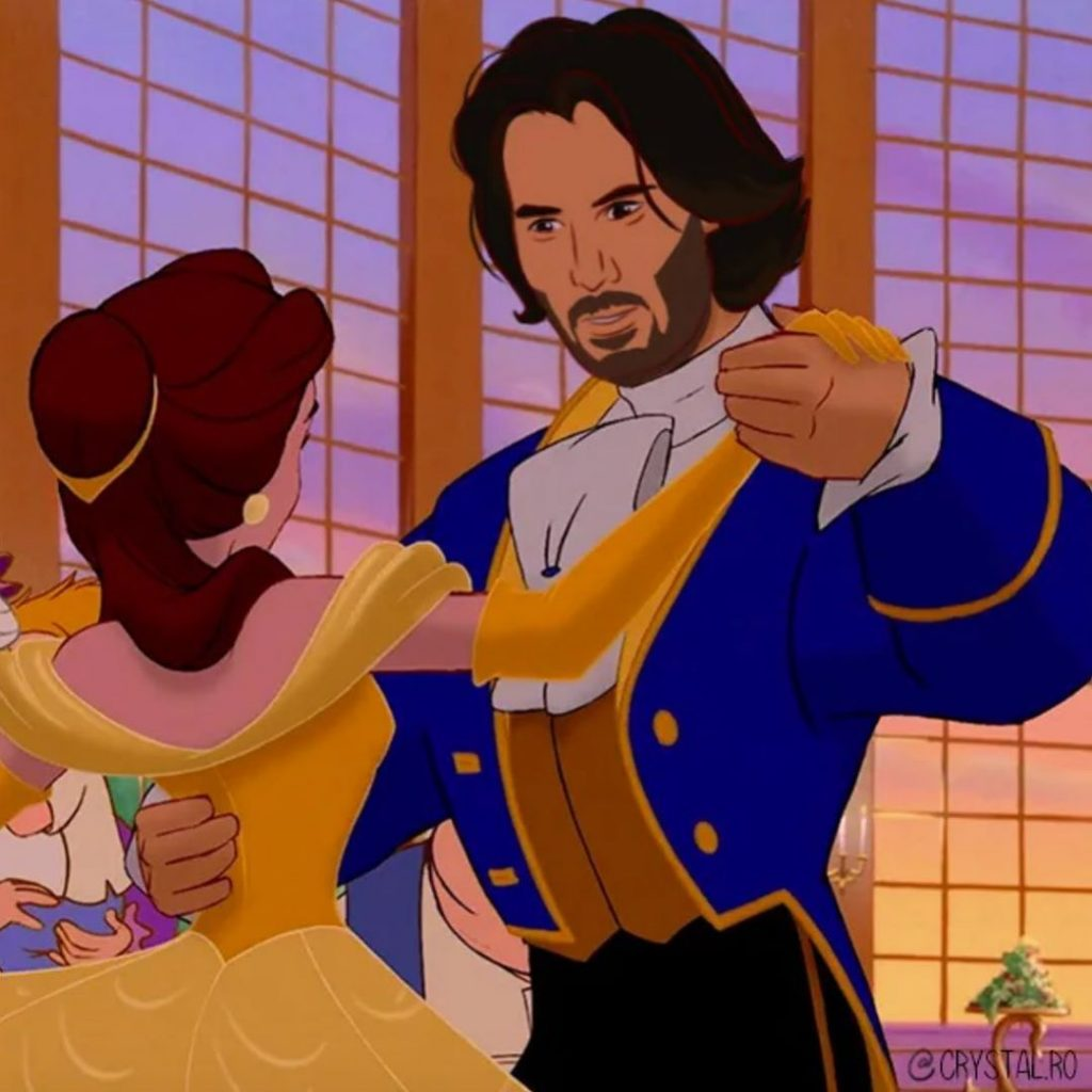 Keanu Reeves as Disney Princes | BrainBerries
