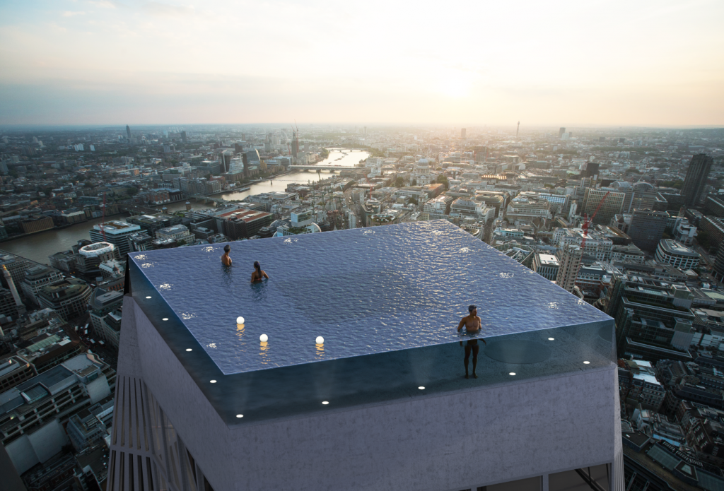 London's 360-degree Rooftop Infinity Pool Looks Like It Might Be The Coolest Thing Ever | Brain Berries