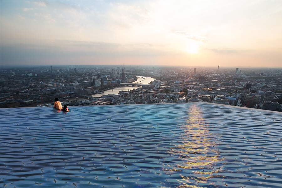 London's 360-degree Rooftop Infinity Pool Looks Like It Might Be The Coolest Thing Ever #5 | Brain Berries