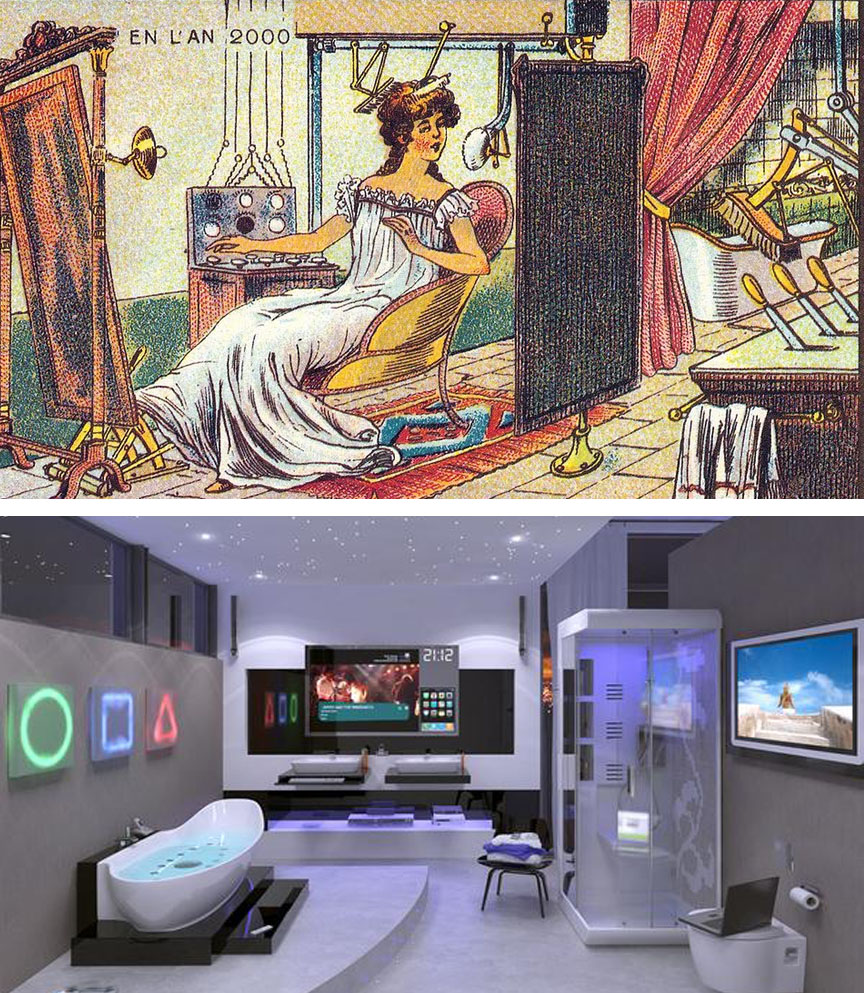 Automated bathroom | 10 Modern Things That Were Predicted Hundreds Of Years Before They Appeared | Brain Berries