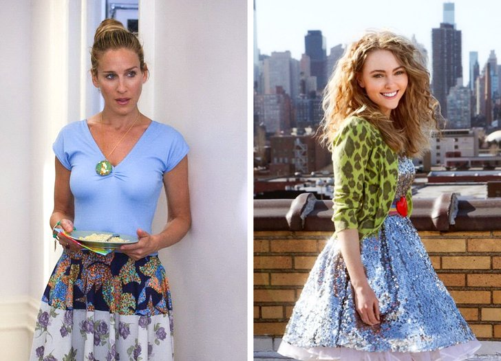 Carrie Bradshaw | What Iconic Female Characters Look Like In Remakes (Lara Croft Will Really Surprise You) Brain Berries