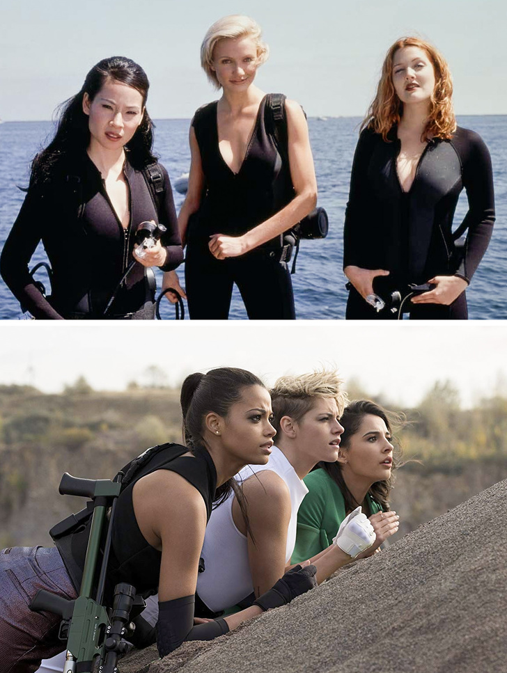 Charlie's Angels   What Iconic Female Characters Look Like In Remakes (Lara Croft Will Really Surprise You) Brain Berries