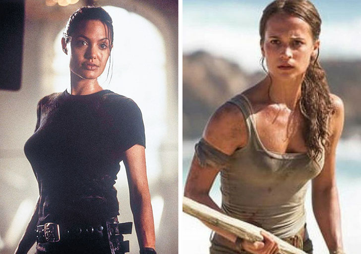 Lara Croft | What Iconic Female Characters Look Like In Remakes (Lara Croft Will Really Surprise You) Brain Berries