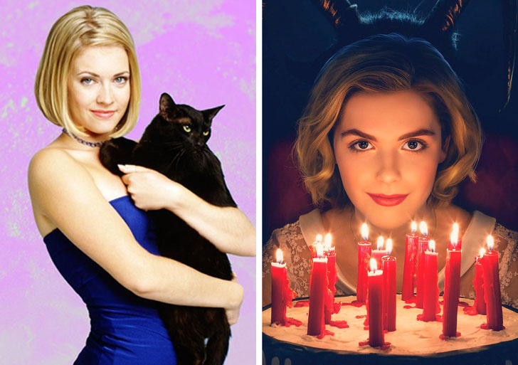 Sabrina, the Teenage Witch   What Iconic Female Characters Look Like In Remakes (Lara Croft Will Really Surprise You) Brain Berries