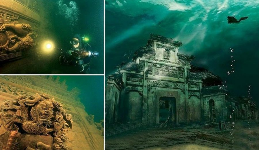 Shi Cheng underwater city | 9 Mysterious Underwater Objects Very Few People Know About | Brain berries