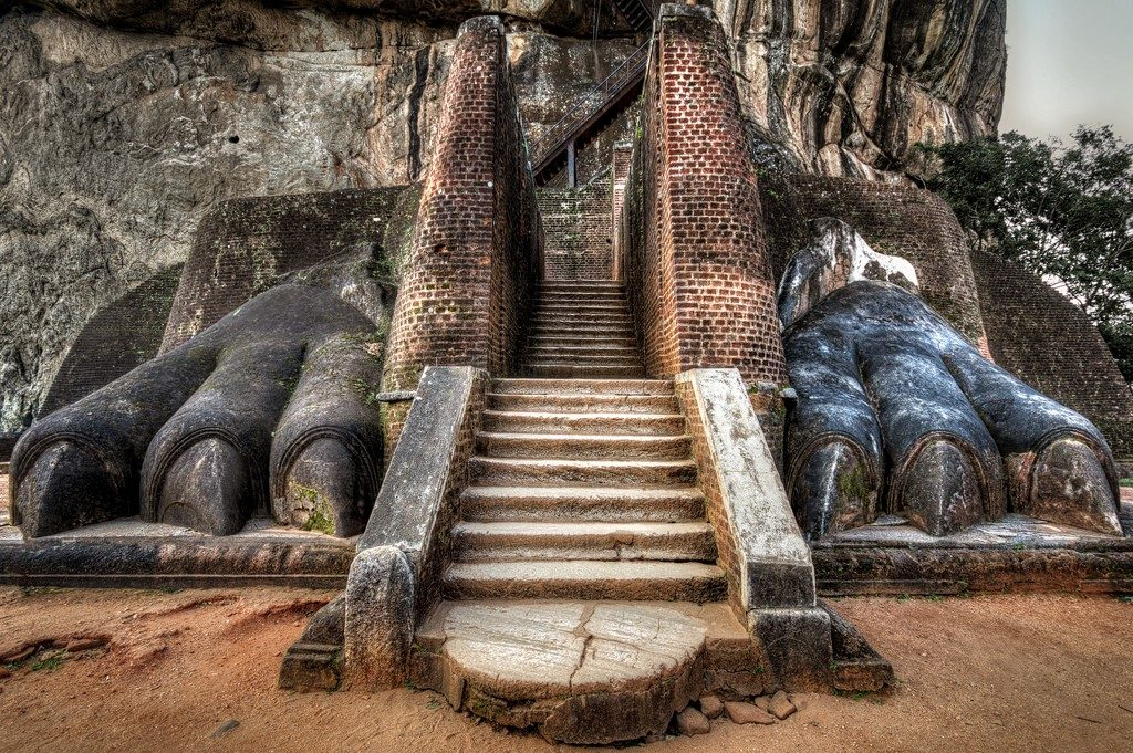 Lion Rock, Sigiriya, Sri Lanka| 15 Most Astonishing Staircases In the World | Brain Berries