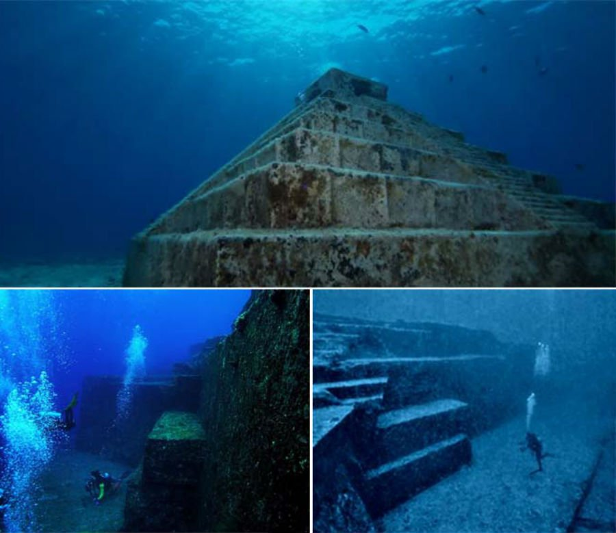 Yonaguni underwater pyramid | 9 Mysterious Underwater Objects Very Few People Know About | Brain berries