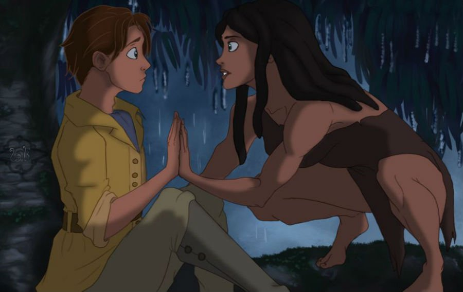Tarzan and Jane | Disney's House Of Horrors or What Disney Characters Would Look Like If They Used Face Swap | ZestRadar