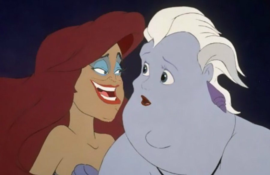 Ariel and Ursula | Disney's House Of Horrors or What Disney Characters Would Look Like If They Used Face Swap | ZestRadar