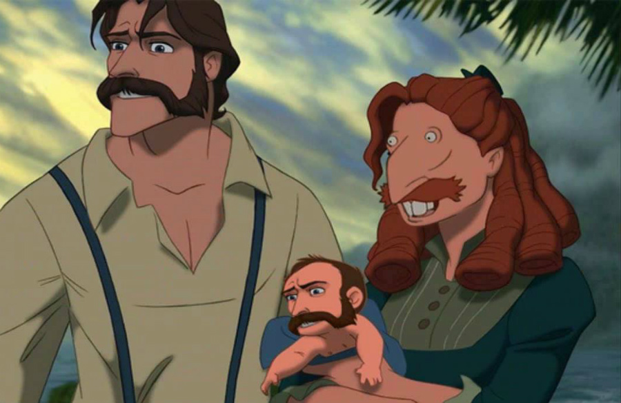Tarzan's family | Disney's House Of Horrors or What Disney Characters Would Look Like If They Used Face Swap | ZestRadar