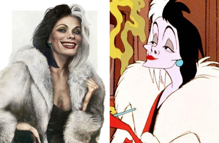 Круэлла Де Вилль из «101 далматинец» | Как выглядели бы герои диснеевских мультфильмов в реальной жизни | Brain Berries