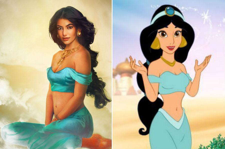 Принцесс Жасмин из «Алладина» | Как выглядели бы герои диснеевских мультфильмов в реальной жизни | Brain Berries