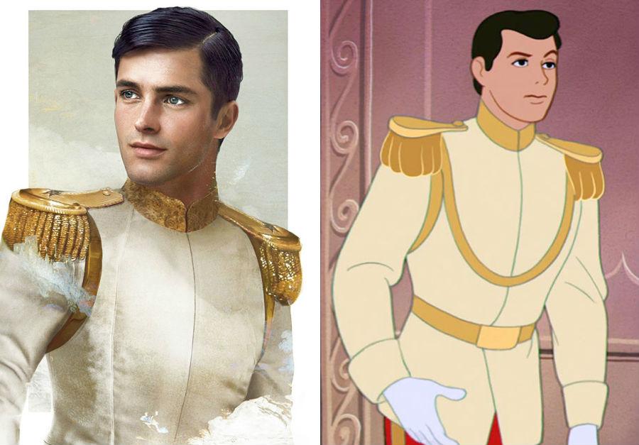 Принц Чарлинг из «Золушки» | Как выглядели бы герои диснеевских мультфильмов в реальной жизни | Brain Berries