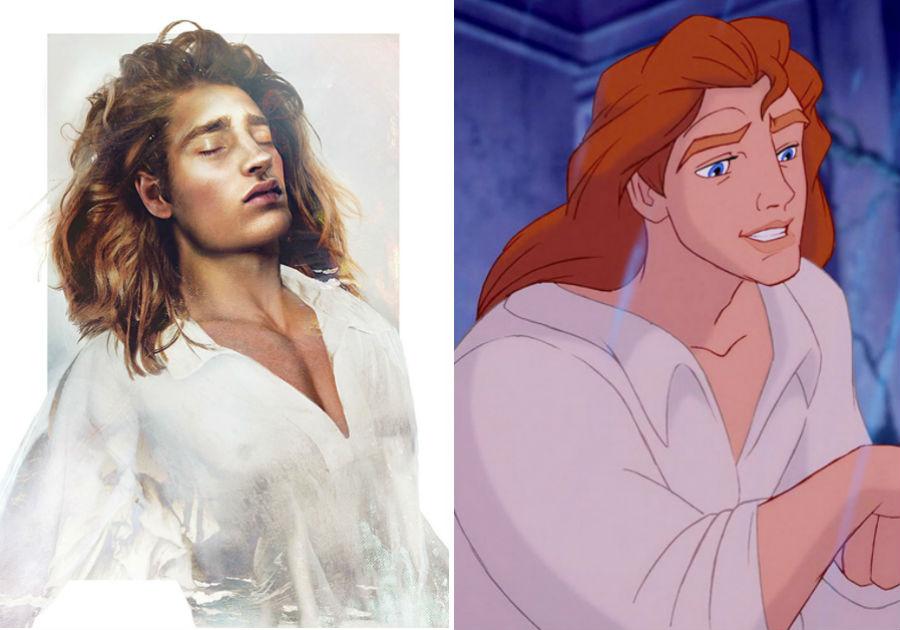 Принц Адам из «Красавицы и чудовище» | Как выглядели бы герои диснеевских мультфильмов в реальной жизни | Brain Berries