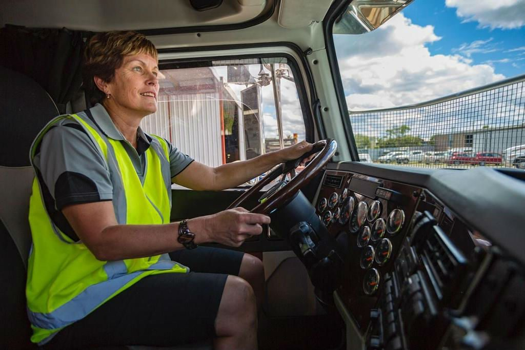 Woman Truck Driver   Brain Berries