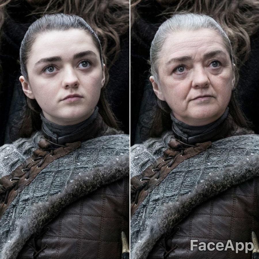 Arya Stark | FaceApp Old Face Challenge Accepted | ZestRadar