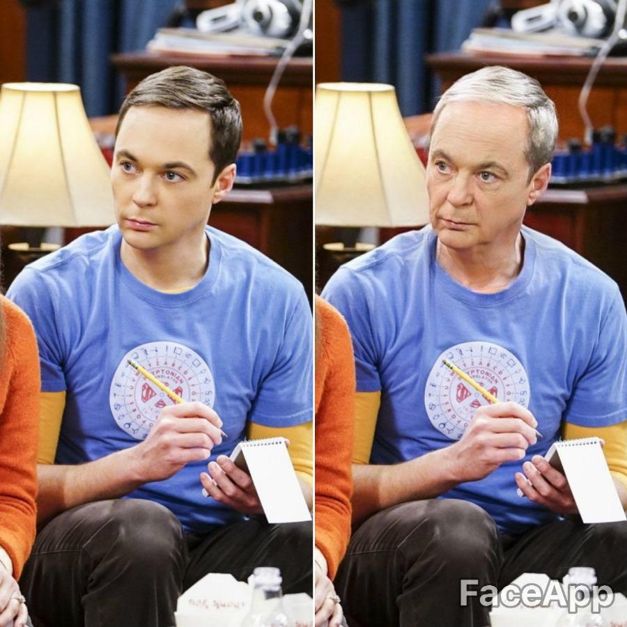 Sheldon Cooper | FaceApp Old Face Challenge Accepted | ZestRadar