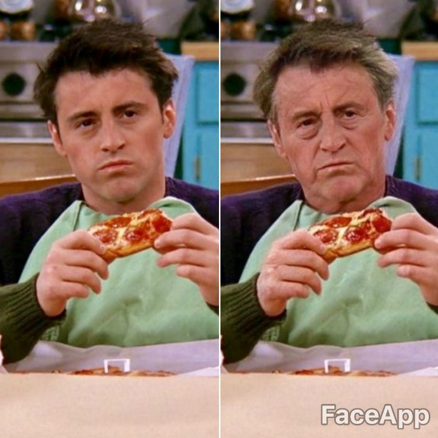 Joey Tribbiani | FaceApp Old Face Challenge Accepted | ZestRadar