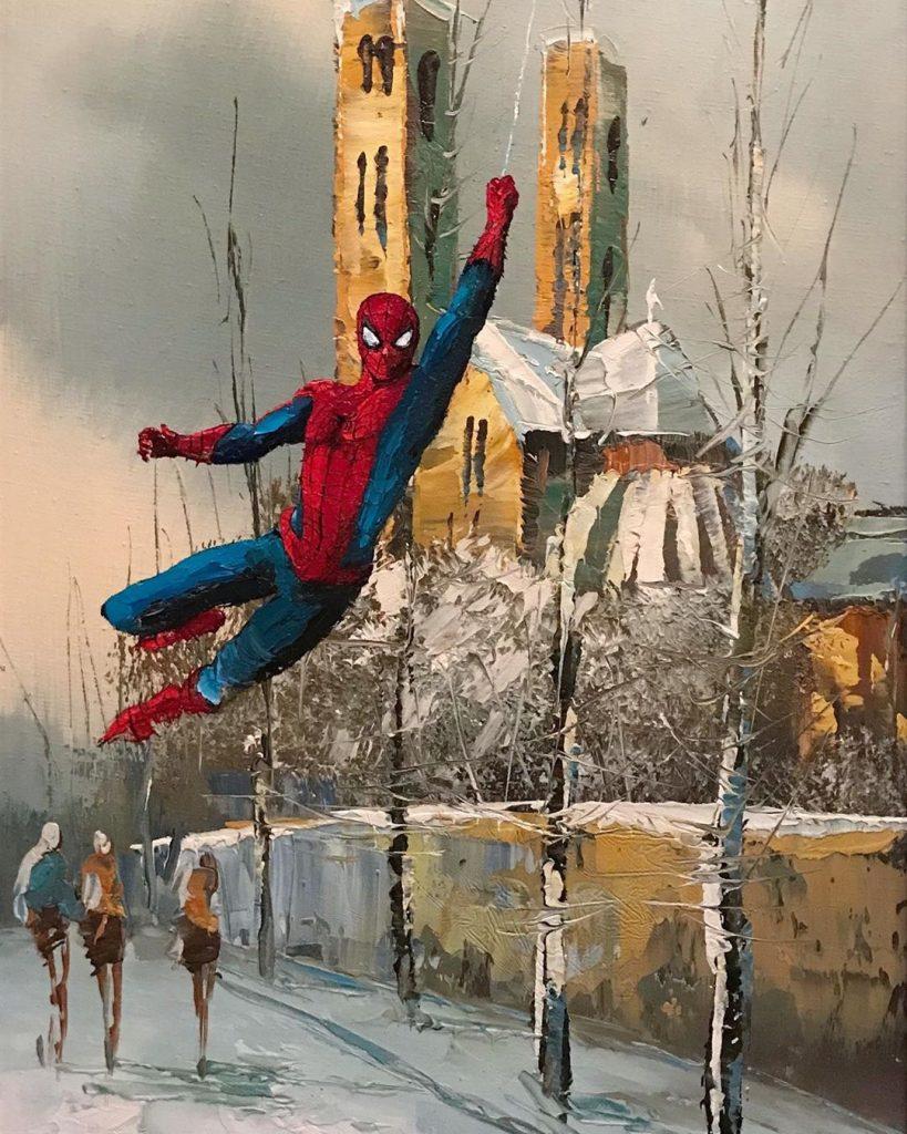 Человек-паук | «Re-directed painting» – самое странное направление в современной живописи | Brain Berries